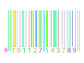 Coloured barcode — Stock Photo