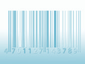Blue tone barcode — Stock Photo