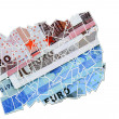 Euro money collage — Stock Photo