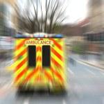 Emergency ambulance with zoom effect — Stock Photo