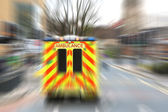Emergency ambulance with zoom effect — Stock Photo