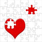 Jigsaw heart — Stock Photo