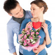 Affectionate Young Couple in Love — Stock Photo