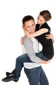 Woman Embracing Man — Stock Photo