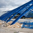 Metal Frame Structure on Contruction Site — Stock Photo