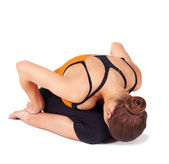 Fit Woman Practicing Yoga Asana — Stock Photo