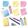 Set of stationeries — Stock Photo
