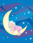 BABY SLEEPING — Stock Vector