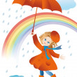Walk in the rain — Stock Vector #2917891