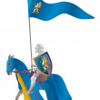 Medieval Knight in a parade vestment — Stock Photo