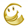 Merry symbol of gold euro - Stockfoto