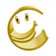 Merry symbol of gold euro — Stock Photo