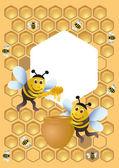 Veselé včela — Stock vektor