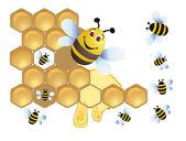 Merry bee — Stock Vector