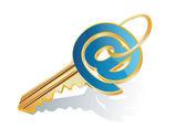 E-posta tuşu — Stok Vektör