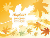 Autumnal leaf background — Stock Vector