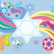 Glad background to Jewish holiday — Stock Vector #3792754