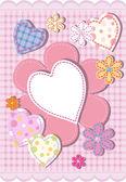 Hintergrund für ein Herz beglückwünschen — Stockvektor