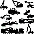 Stock Vector: Construction machines