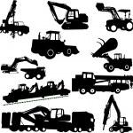 Macchine per l'edilizia — Vettoriale Stock