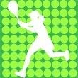 Royalty-Free Stock Vector Image: Tennis player