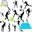 Vettoriale Stock : Tennis