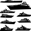 Royalty-Free Stock Vector Image: Yacht