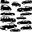 Cars collection — Stock Vector