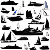 Collection of sea tranportation — Stock Vector