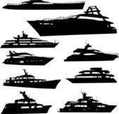 Yacht — Vector de stock