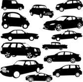 Bilar samling — Stockvektor