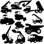 Construction machinE — Stock Vector