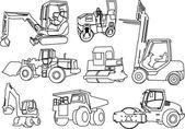 Construction machines — Stock Vector