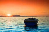 Coucher de soleil lac — Photo