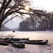 Winter lake landscape — Stockfoto #2803304