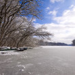 Winter lake landscape — Stock Photo #2805264