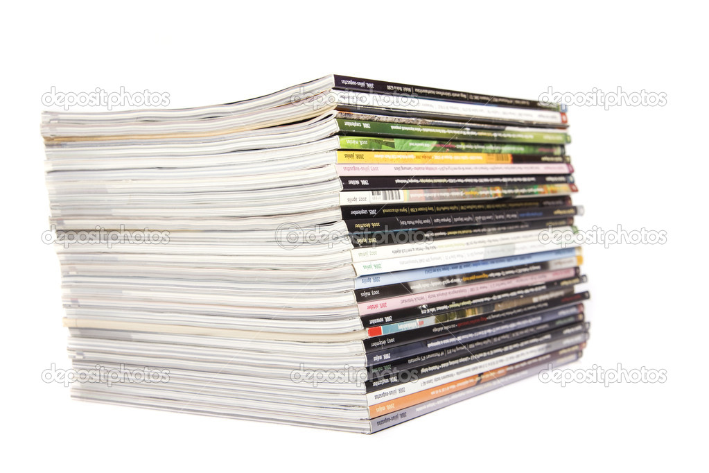 Magazines over white  Stock Photo #2816024