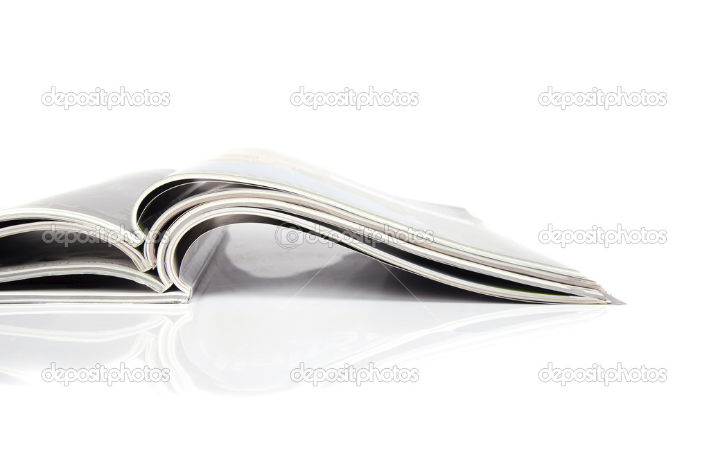 Magazines over white  Stock Photo #2816056