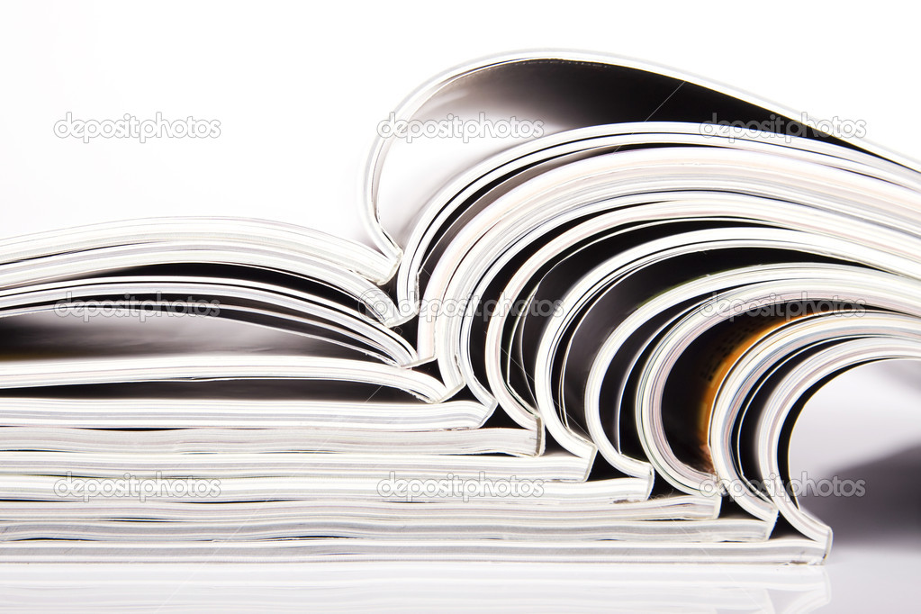 Magazines over white  Stock Photo #2816254