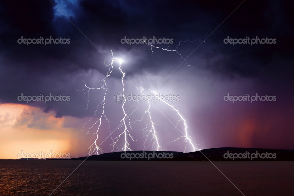 Storm over the lake Balaton  Stock Photo #2932667
