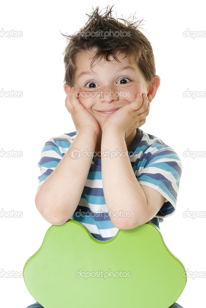 Happy child smiling and looking directly to camera — Stock Photo #3621180