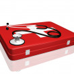Stethoscope and Medical Kit — Stock Photo