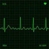 Heart Monitor — Stock Vector