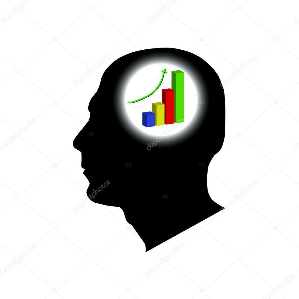 Man thinking of ways to make money  Stock Vector #2936860