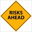 Постер, плакат: Risks Ahead Vector