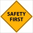 Safety First Vector — Stockvectorbeeld