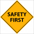 Safety First Vector - Stock Vector