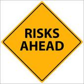 Risks Ahead Vector — Stock Vector