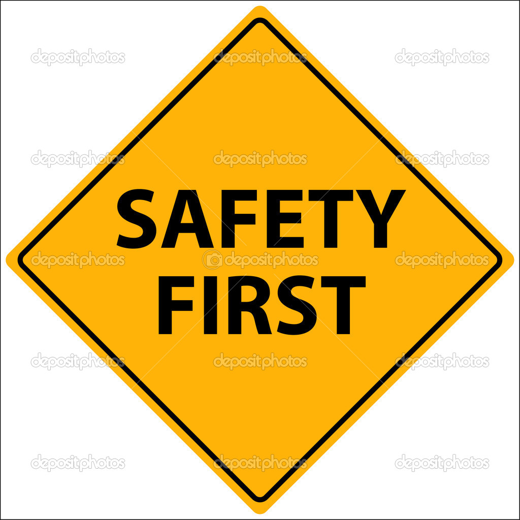Vector Illustration of a Safety First sign — Stock Vector #2957368