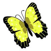 Afbeelding van de vlinder — Stockvector